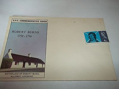 GB 1966 ROBERT BURNS Stamp First Day Cover