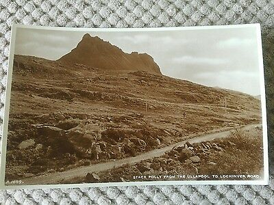 Vintage Scottish Postcard Stack Polly From The Ullapool To Lochinver Road