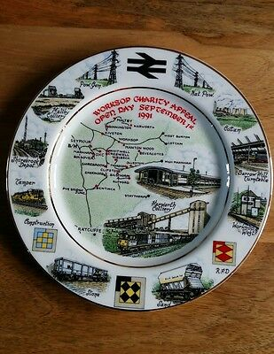 New Railway Worksop Charity Day Plate 1991 Fine China