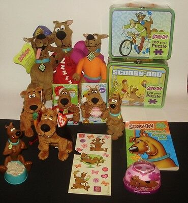 Scooby-Doo lunch boxes, plush toys, TY beanie, and more.  Big Lot!  Some new!
