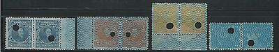 Venezuela: 1932-1938, 4 diff. pairs of stamps in security paper, ... VE1135