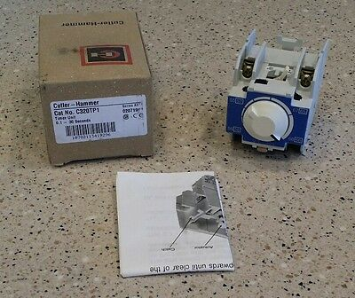 **NEW IN BOX** CUTLER HAMMER C320TP1 Timer Unit 0.1-30 SECOND Ser A1