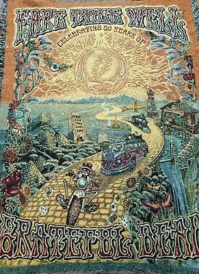 Fare thee well AUTHENTIC BOUGHT IN CHICAGO grateful dead commemorative blanket