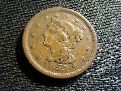 1853 American Copper Large Cent