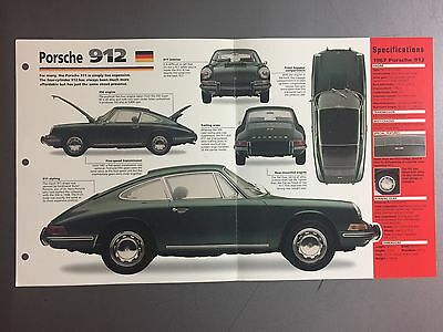 "1965 - 1969 PORSCHE 912 IMP ""Hot Cars"" Spec Sheet Folder Brochure #3-79"