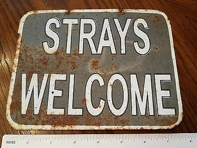 Vintage Antique Metal Sign 8x6