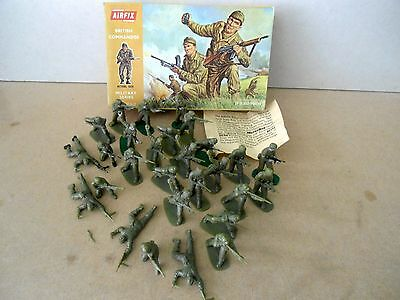 Airfix BRITISH COMMANDOS 1:32 Scale Plastic Soldiers , Vintage Boxed.