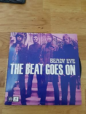 """Beady Eye The Beat Goes On 7"""" Numbered Single BEADY6 Oasis Gallagher"""