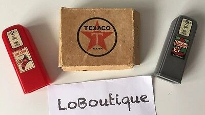 Vintage TEXACO Sky Chief & Fire Chief Gas Pump Salt Pepper Shakers boxed RARE