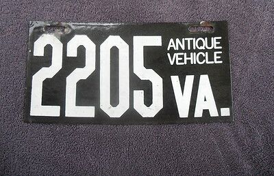 1970 VIRGINIA Antique Vehicle License Plate