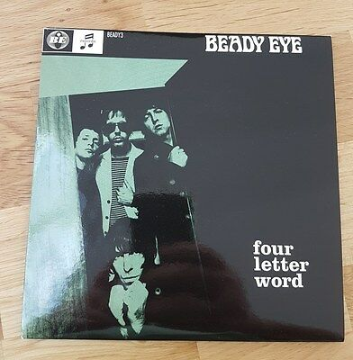 """Beady Eye  four letter word mint 7"""" numbered single"""