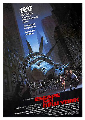 Escape from New York (1981) - A2 POSTER **BUY ANY 2 AND GET 1 FREE OFFER**