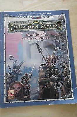 AD&D Forgotten Realms 9369 Hordes of Dragonspear TSR Dungeons and Dragons