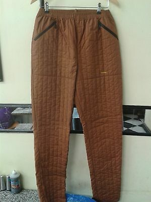 ROHAN  Wormwear Women Trekking Brown Quilted Trousers Size 12 /6  30-32/34""