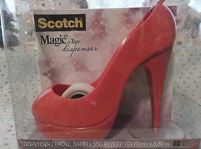 Hot Pink Stiletto Heel Shoe Scotch Tape Dispenser / Includes Tape New In Package