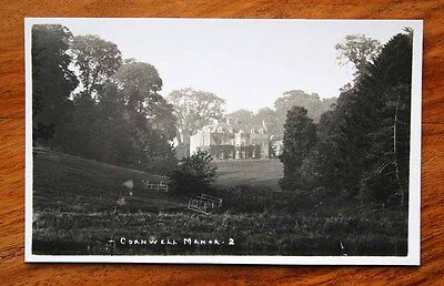 Vintage Photo Postcard Rp Frank Packer Cornwell Manor Nr. Chipping Norton Unused