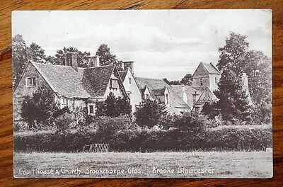 Vintage Postcard Court House & Church Brookthorpe Gloucestershire
