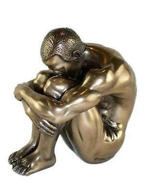 Miniature Bronze Art Nude Male Sculpture Gay Int. Gift NEW and Boxed