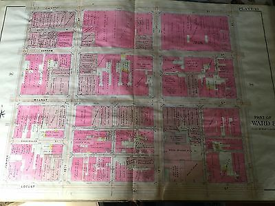 COPY OF 1908 PHILADELPHIA PA WARD 8 JEFFERSON MEDICAL COLLEGE//HOSPITAL ATLAS MAP