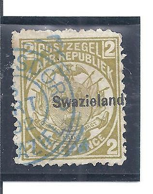 SWAZILAND...# 3c  ( Perf 12 1/2 x 12 )...1889...Used...SCV  $ 37.50
