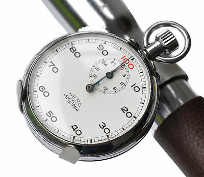 Vintage Nero Lemania Stopwatch & Bicycle Watch Time Trial Clip Eroica