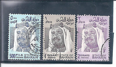 BAHRAIN....#237-39  (500f, 1d & 2d---a 2nd Set )...1976/80....Used....SCV $25.75