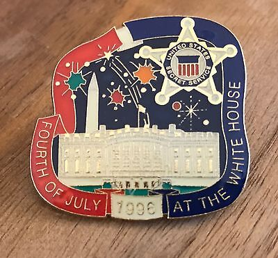 Fourth of July 1996 at the White House Secret Service Mini Badge Pin