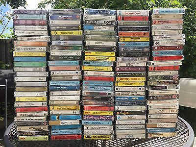 Job Lot X 130 Cassette Tapes- Mixed Music: Country, Oldies, Easy Listening
