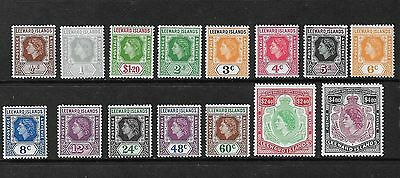 LEEWARD ISLANDS 1954 Stamps SG126/40 set of 15 mounted mint