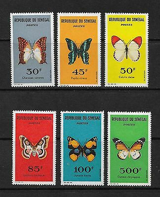 SENEGAL1963 Butterfly Stamps SG262/67 Complete Set Mint Hinged