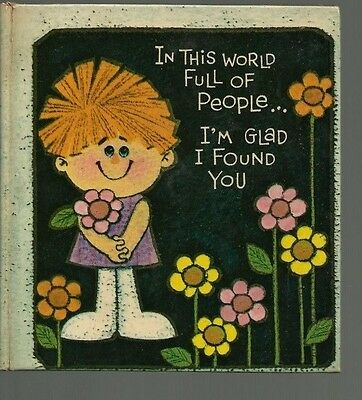 Vintage American Greetings The Sunbeam Library 1968 In This World I'm Glad I VG