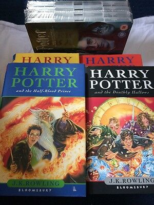 ** HARRY POTTER FIRST EDITION COLLECTORS BOOK SET X 4 WITH DVDS SET Etc  **