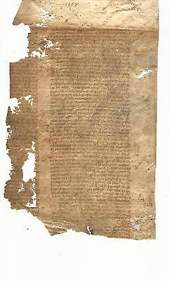 14Th C Large Medieval Manuscript Leaf Vellum Civil Law +++