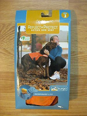 kurgo ACTIVE DOG VEST REFLECT & PROTECT Pet Size Small ORANGE *NEW* LAST ONE!