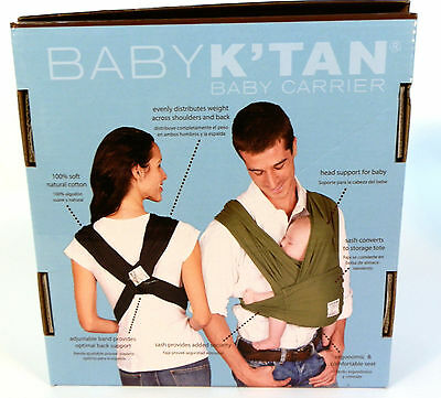 Baby K'tan ORIGINAL Baby Carrier Heather Grey Large. New