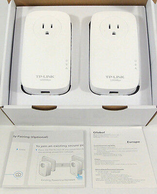 TP-Link AV1200 Power Line Starter Kit, 3-Port Gigabit, TL-PA8010P
