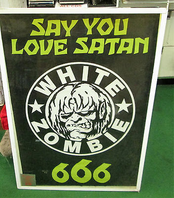 White Zombie Poster Live New Never Opened 2008 Vintage Close Up Rob Zombie