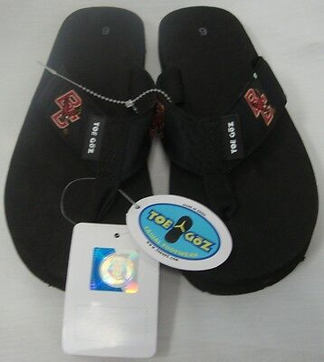f00eec238b3e2b Boston College Ncaa College Team Contour Black Logo Flip Flops Sandals 6