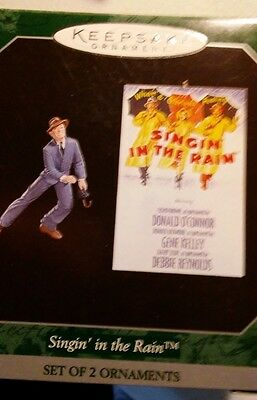 Hallmark Keepsake Ornament Singing in the Rain 2 ornaments 1998