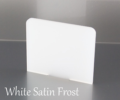 WHITE SATIN FROST ACRYLIC SHEETS 3mm IN VARIOUS SIZES