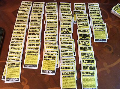 TOPPS BATMAN MOVIE TRADING CARDS 220 in total  1989 DC COMICS