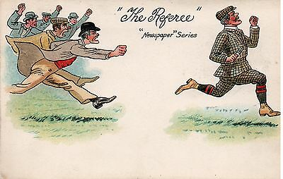 """COMIC CARD """" THE REFEREE """" ( Published by DAVIDSON BROS Series 6047 )"""
