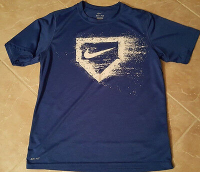Nike Baseball Blue Boys Dri-Fit Shirt Extra Large XL  16-18