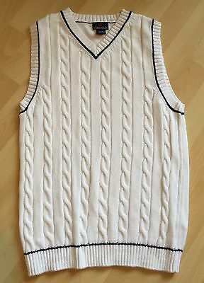Dillard's Class Club Lot 2 Boys 14 16 White/navy Pink/white Spring Sweater Vest