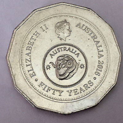 2016 Australian Fifty Years 50 Cents Coin
