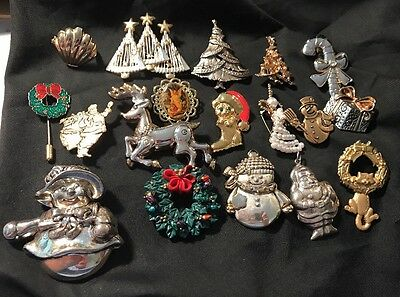 18 Piece Christmas Costume Jewelry Lot