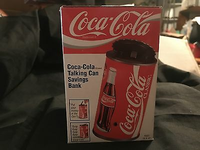 COCA COLA Motion Activated Talking Can Savings Bank