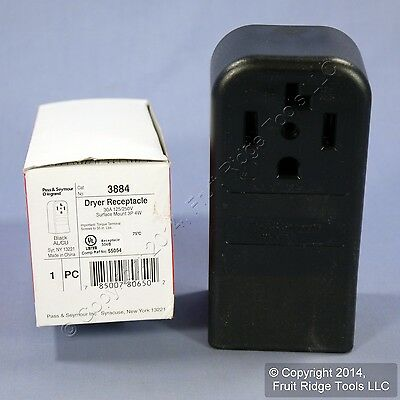 Pass & Seymour Dryer Outlet Single Receptacle NEMA 14-30 30A 125/250V 3884 Boxed