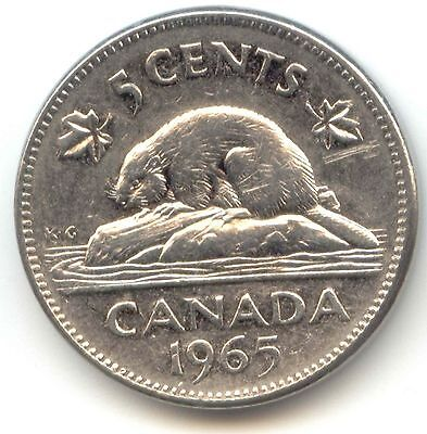 Canada 1965 Five Cent Canadian Nickel 5c *EXACT* COIN