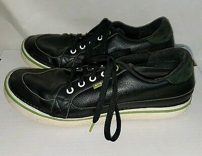 CROCS Golf With Hank Haney Men's White/Green & Black Leather Golf Shoes Size 10